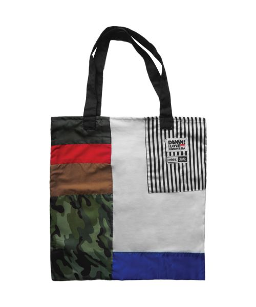 DAMN GREEN TOTE BAG CAMOUFLAGE