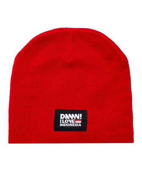 CAP BEANIE DAMN RED   F