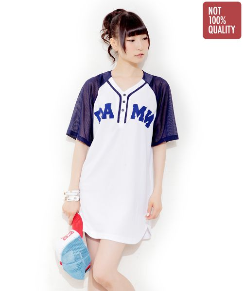 DRESS DAMN! BASEBALL WHITE   XL