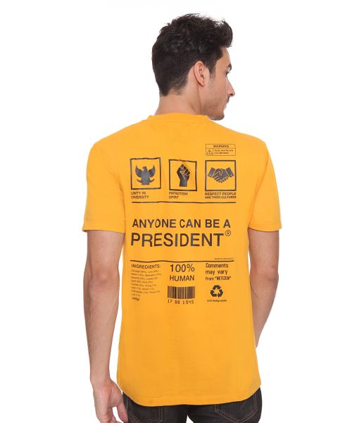 EVERYONE CAN BE PRESIDENT MUSTARD MALE   XL