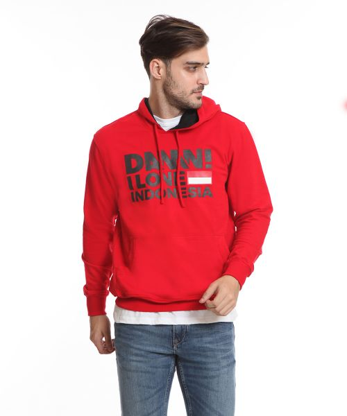 SIGN HOOD RED HD BLACK MALE   3XL