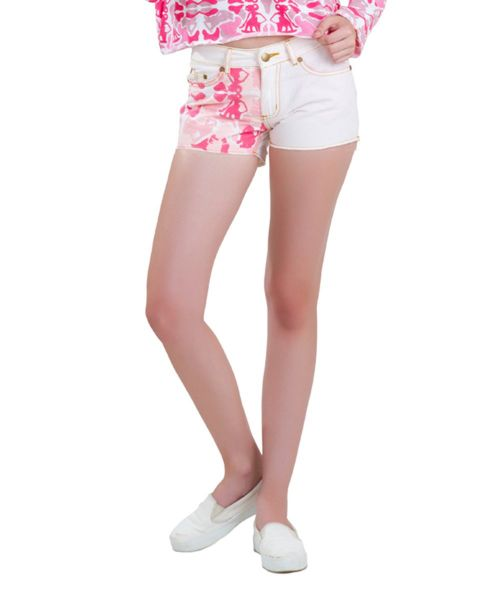 HOT PANTS CAMOU WAYANG WHITE FEMALE