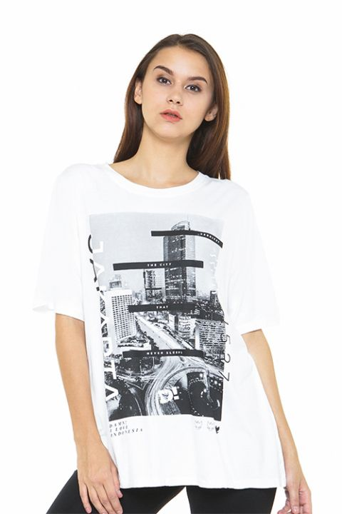 JAKARTA NIGHTVIEW WHITE FEMALE   XL