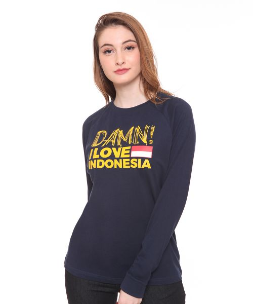 LONGSLEEVE DECONSTRUCTION NAVY FEMALE   L