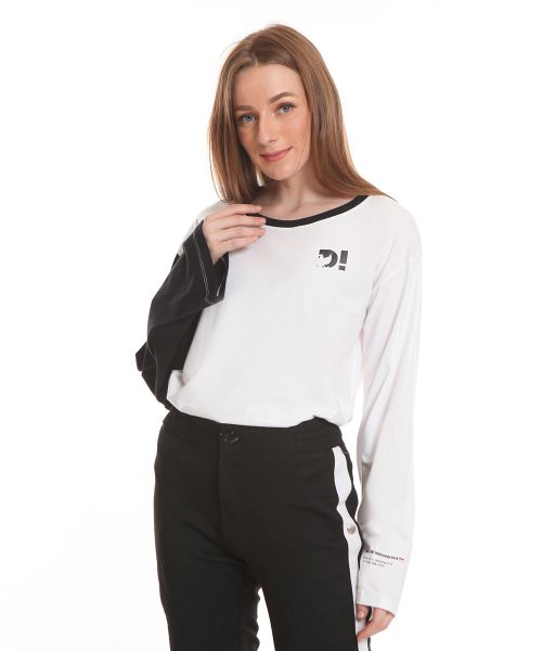 LONGSLEEVE DUAL COLOR WHITE FEMALE   S