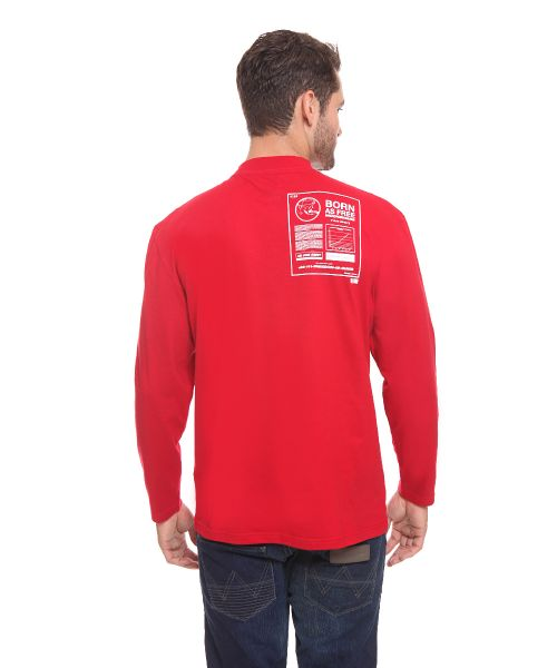 LONG SLEEVE YOUTH GRAPH RED MALE   L