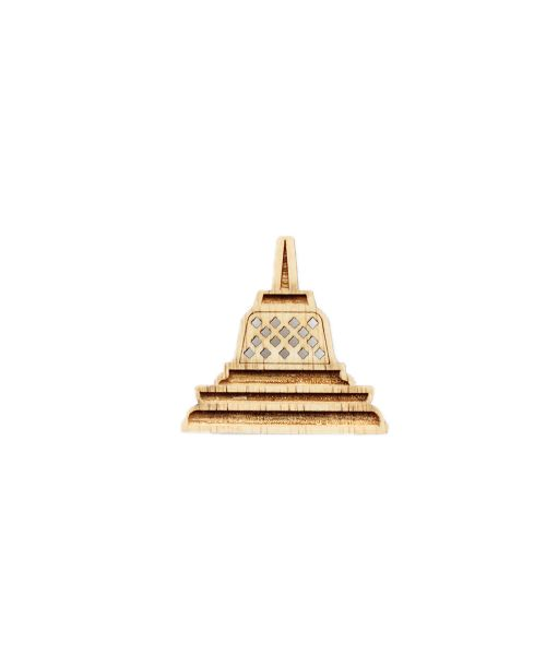 PIN BOROBUDUR BROWN   F