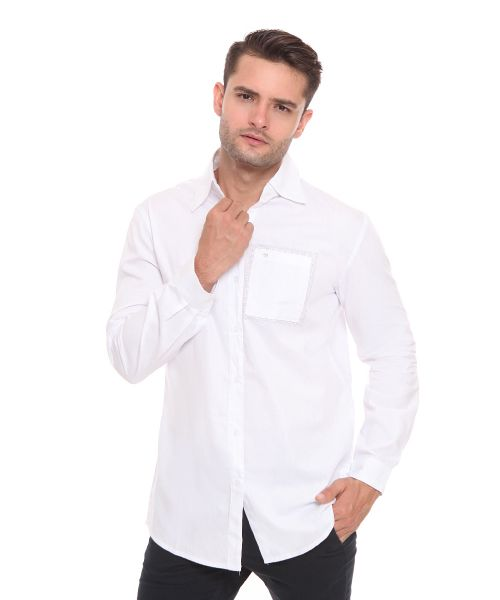 SHIRT LONG SLEEVE RELATION MALE WHITE