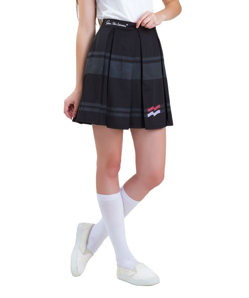 SKIRT VARSITY PLATED BLACK FEMALE