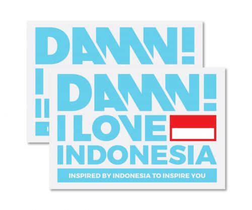 STICKER SIGN BLUE LARGE   L