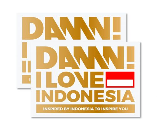 STICKER SIGN GOLD LARGE   L