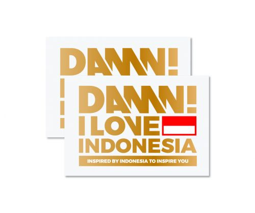 STICKER SIGN GOLD MEDIUM   M
