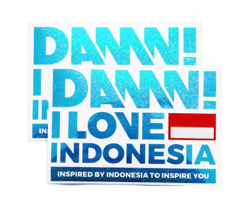 STICKER SIGN HOLO BLUE LARGE   L