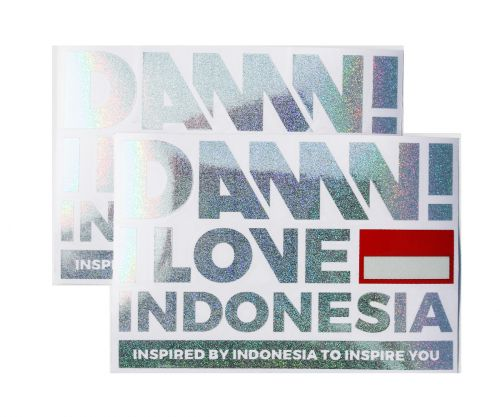 STICKER SIGN HOLO GREY LARGE   L