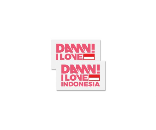 STICKER SIGN PINK SMALL   S