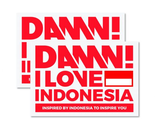 STICKER SIGN RED LARGE   L