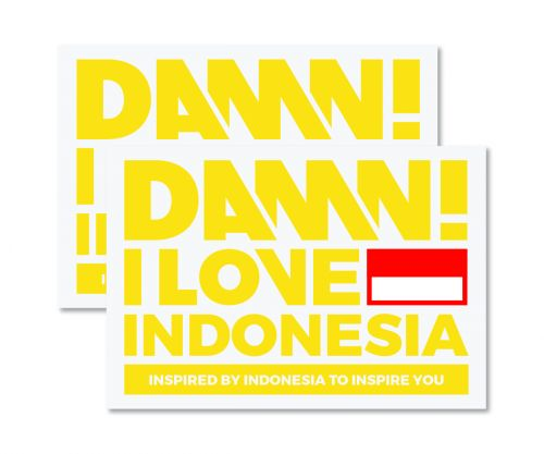 STICKER SIGN YELLOW LARGE   L