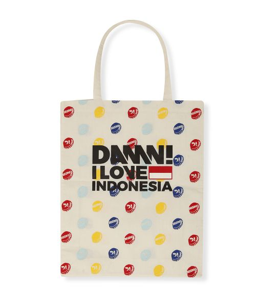 TOTE BAG BOTTLE CAP WHITE   F
