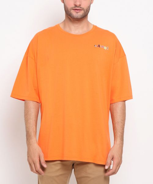 DAMN! MAGZ COLLAGE ORANGE UNISEX-XL