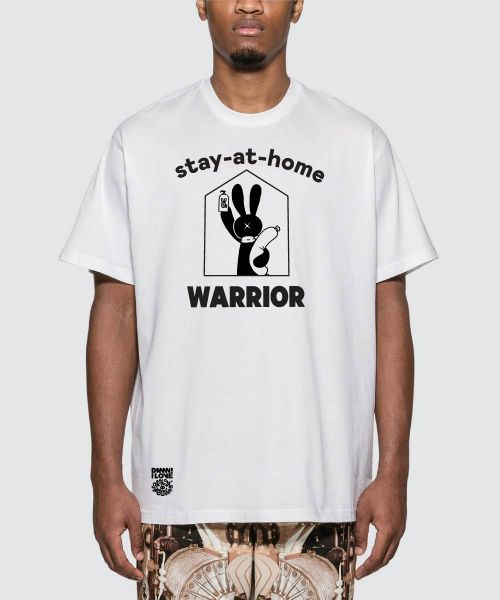 SHOW THE MONSTER STAY HOME WARRIOR WHITE UNISEX