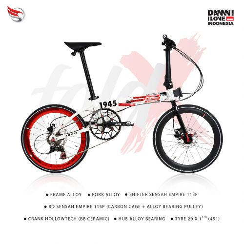 ELEMENT BIKE FOLD X LITE DAMN I LOVE INDONESIA