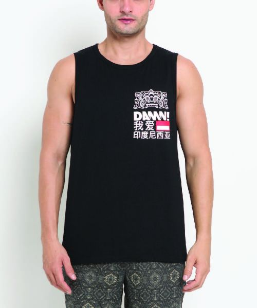 SLEEVELESS BARONG CHINESE BLACK UNISEX