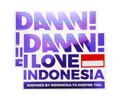 STICKER SIGN HOLO PURPLE MEDIUM   M