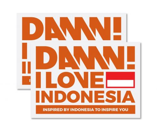 STICKER SIGN ORANGE MEDIUM   M