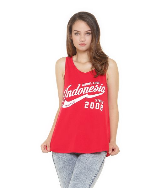 TANK TOP DAMN! RIBBON RED FEMALE
