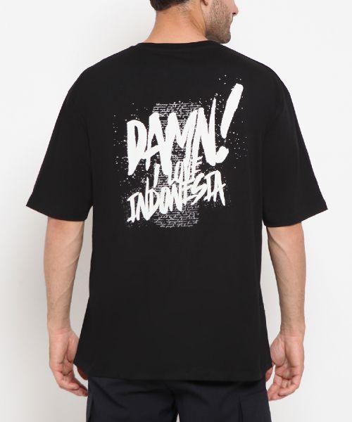 DAMN! SPLATTER BLACK UNISEX-2XL