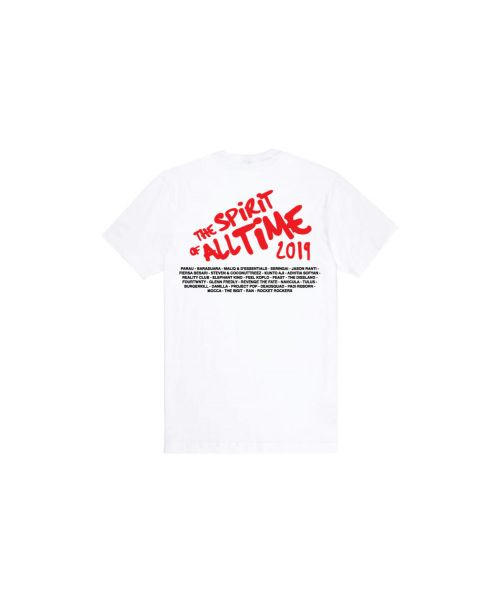 Tee Unisex The Spirit  of All Time Main White-XL