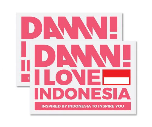 STICKER SIGN PINK LARGE   L