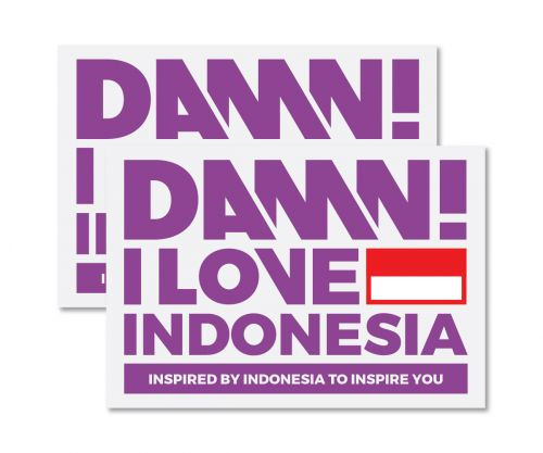 STICKER SIGN PURPLE LARGE   L