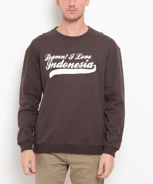 SWEATER CLASSIC CREWNECK DARK BROWN MALE